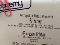 1 ticket (CIRCLE) for PJ HARVEY on Sunday 30th October 2016