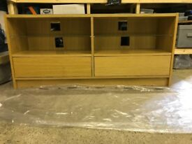 Ikea glass topped sideboard / TV unit