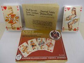 Vintage Imperial Kaiser Playing Cards by Piatnik, Vienna, Austria