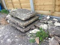 """2 approx 17.5"""" inch paving stones slabs"""