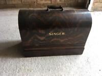 Vintage Singer Sewing Machine and Accessories