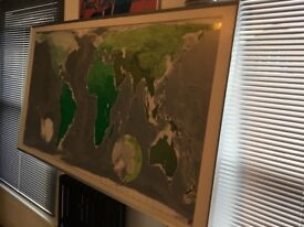 Stunning futuristic wall map - framed and large scale