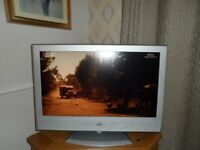 "TV 32"" JVC with Freeview, silver surround and stand, remote control"