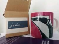 Joules Badger Mug (new, boxed)