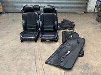 BMW E46 M3 Convertible Cabrio Black Electric Nappa Leather Seats Interior & Door Cards