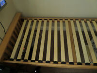 Guest bed with pull out single bed.
