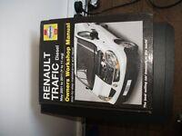 renault traffic haynes manual 2001 to 2011 vgc pick up corsham wiltshire sn13 9ng