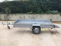 TRAILER SUITABLE FOR QUADS, GOLF BUGGYS, RIDE ON MOWERS - 4.5 FOOT WIDE 9 FOOT LONG TILTS