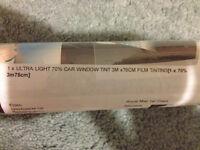 Ultra light 70% car window tint - never used