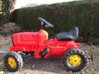 Kids red ride-on tractor