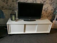 Next white large high gloss tv unit