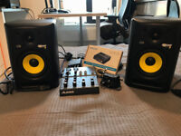 Pair of KRK Rokit 5 RPG2 Studio Monitor/Speakers inc/ Alexis 4 Channel Mixer
