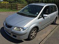 Mazda Premacy GXI 1840cc Petrol 5 speed manual 5 door estate Y reg 18/05/2001 Silver