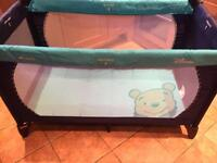 Whinnie the pooh travel cot