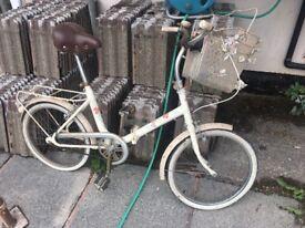 Vintage town city bike