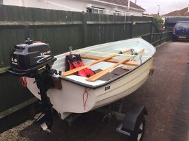 Boat/trailer/outboard & extra's