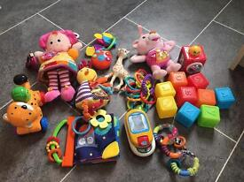 Bag of Assorted baby toys