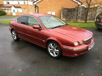 2007 JAGUAR X-TYPE 2.2 SE DIESEL RED LOW MILEAGE 59500 SALOON MANUAL LEATHER INTERIOR 6 SPEED