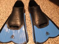 Flippers. Size childs 12-13. Only used a few times.