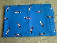 "BLUE RACING CARS CURTAINS 64"" X 53"""