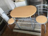 2 seater dining table (assembled) £35 Ono