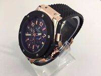 New Hublot Big Bang King Power Rose Gold automatic watch with Open work back