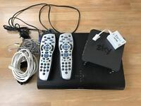 Sky+HD box and broadband router.