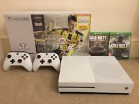 Xbox One S 500GB boxed with 3 games and 2 controllers!