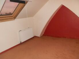 Loft room for rent, Shared use of kitchen and bathroom.