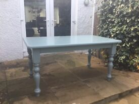 Farrow and Ball solid pine painted dining table