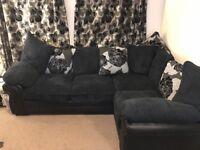 Dark navy blue corner sofa