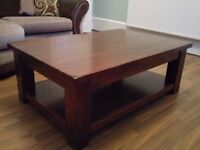 Solid Wooden Large Coffee Table, with lower shelf space