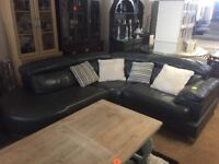 BEAUTIFUL ITALIAN FULL LEATHER CORNER SOFA ## DELIVERY AVAILABLE ##