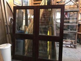 External double mahogany doors