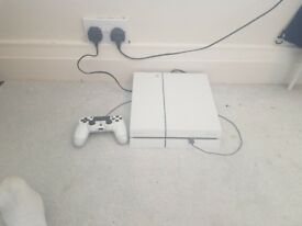 White Sony Playstation with 4 games, 1 Controller & HDMI Cable