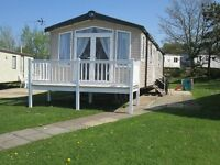 New 3 bed caravan with patio doors and balcony for rent / hire at Craig Tara, close to complex (101)