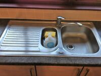Astracast stainless steel 1.5 sink + tap (x2)