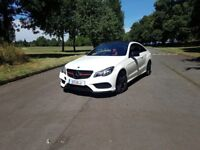 Mercedes Benz E Class e220D Pearl White Panoramic Roof Red Leather *Cclass, 5series 3 series Audi