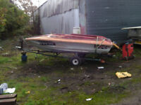 speedboat project with trailer