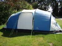 SunnCamp Shadow 600DL family tent - sleeps 5-6. With footprint groundsheet and foam floor mats