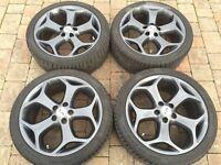 Ford Focus St225 Mk2 Pre Facelift Wheels + Tyres Graphite Grey Refurbed/sprayed