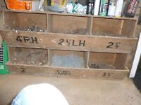 Nails 6 large boxes in Purpose made Storage Unit