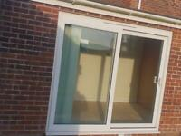Double glazed white upvc sliding patio doors