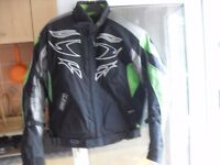 LADIES BIKER GEAR JACKET SIZE 12 LEATHER TROUSERS 28-30 GLOVES SMALL AND BOOTS SIZE 7 £60 THE LOT !