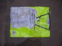 Brand new men's hi vis vest and waterproof coverall, both XL