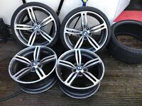 BMW e 92 staggered alloy wheels for sale One of the rare and I has a crack