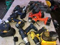 Cordless drills Makita, Dewalt, Black & Decker, Bosch BODY PARTS