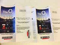 URGENT 2x Tickets standing Avenge Sevenfold Saturday Jan 21st at the O2 Arena, London FACE VALUE