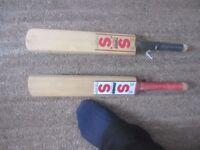 2 small Cricket bats - 'minature'