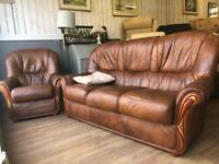 Italian Real Leather Rosini Suite - FREE MIDS DELIVEY